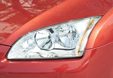 Close up of a new car headlight Royalty Free Stock Images