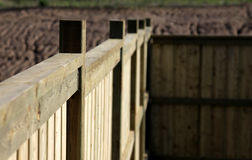 Close-up of a New Fence Royalty Free Stock Image