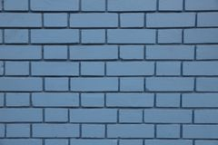 Close up of a blue brick wall stock image