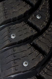 Close-up new snow tire Stock Photo