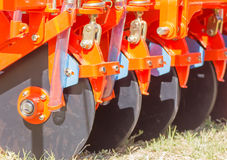 Close Up New Tractor Plow Royalty Free Stock Photography