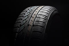 Close up of new winter tire Royalty Free Stock Images