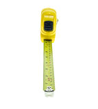 Close up new yellow measuring tape isolated on white Stock Image