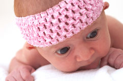 Close up of Newborn Baby Stock Photo