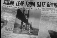 Close-up of newspaper with suicide headline stock video