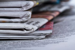 Close Up Newspapers Royalty Free Stock Photo