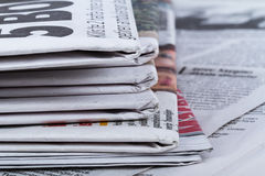 Close Up Newspapers Royalty Free Stock Images