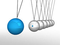 Close up of Newton's cradle Royalty Free Stock Photo