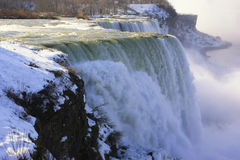 Close up of Niagara Falls in winter, New York state, USA Stock Photo