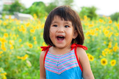 Close up nice big smile of asian children Stock Image