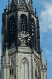 Close up Nieuwe Kerk tower, Delft, Netherlands Stock Photo