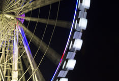 Close up night view of ferris wheel Stock Photography