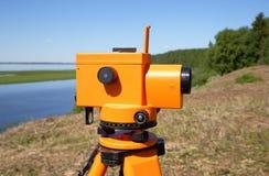 Close-up nivelado ótico na perspectiva de um River Valley e de um taiga fotografia de stock royalty free