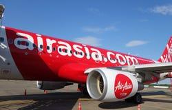 Close-up no motor tailandês de Air Asia Imagens de Stock