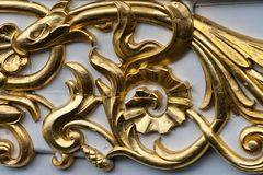 Close up no ornamento dourado Imagem de Stock