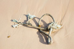 Close up of a noose on the beach Stock Photography