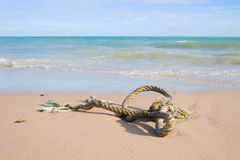 Close up of a noose on the beach Stock Photos