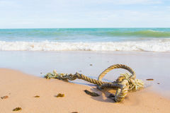 Close up of a noose on the beach Royalty Free Stock Images