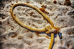 Close up of a noose on the sand in hdr Royalty Free Stock Photos