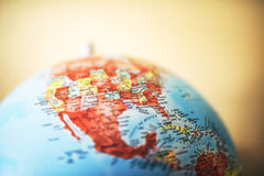 Close up of North America on globe Stock Photography