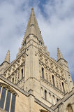 Close up of Norwich Cathedral Stock Photography