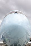 Close-up of the Nose of a Commercial Aircraft Royalty Free Stock Images