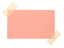 Close up of a note paper Stock Image
