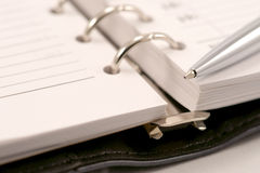 Close up of note and pen. Business still-life. Close up of note and pen Royalty Free Stock Photo