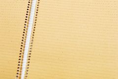 Close-up of notebook. Close-up of open notebook with brown paper royalty free stock photos