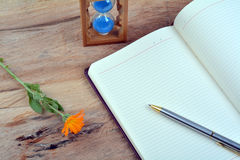 Close up of notebook Stock Images