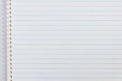 Close up of notebook paper Royalty Free Stock Photo
