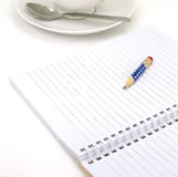 Close up  notebook with pencil Royalty Free Stock Photo