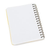Close-up of notepad. Isolated on a white Royalty Free Stock Photo