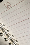 Close up of notepad Royalty Free Stock Images