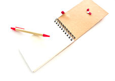 Close up notepad Stock Images
