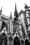 Close up of Notre Dame, paris. Close up of Notre Dame church spires , paris, France Royalty Free Stock Photo