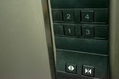 Close up number button in elevator royalty free stock image