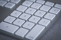 Close up of numbers on computer keyboard Stock Photos