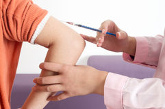 Close-up vaccination Stock Photography