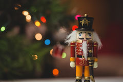 Close-up of nutcracker toy solider christmas decoration stock photography