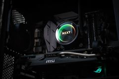 Close up of NZXT electronics