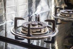 Close up o fogão de gás Fotos de Stock Royalty Free