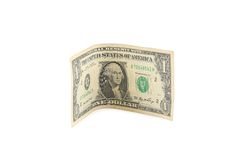 Close up oa one dollar banknote. Royalty Free Stock Image