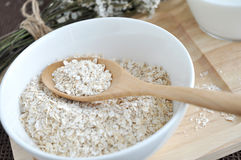 Close up oat in spoon Royalty Free Stock Photography