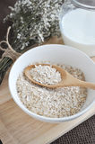Close up oatmeal bowl Royalty Free Stock Photography