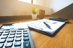 Close up object Business concept. Business workplace on the table. royalty free stock images