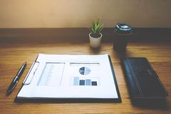 Close up object Business concept. Business workplace on the table. royalty free stock photos