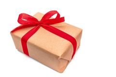 Close up objects Brown Gift box royalty free stock photography