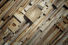 Oblique lines pattern of pieces wood, Wooden backgrund. Close up Oblique lines pattern of pieces wood, Wooden backgrund stock images