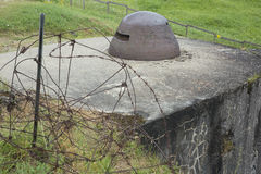Close-up of an observation cupola on Fort Douaumont Stock Photo